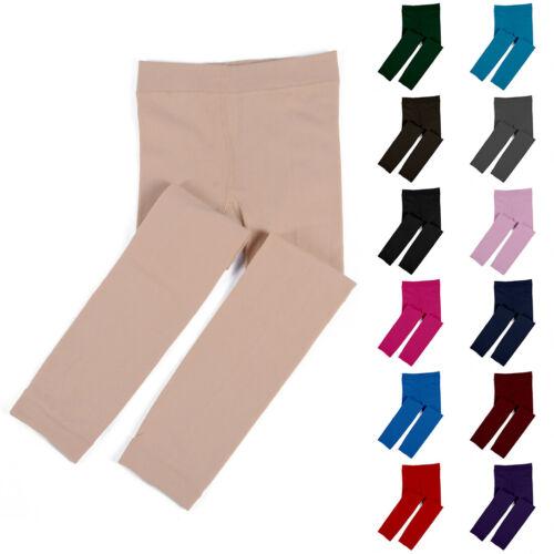 Kids/&Girls Thermal Fleece Lined Leggings Winter Slim Trousers Pants Age 1-13 UK