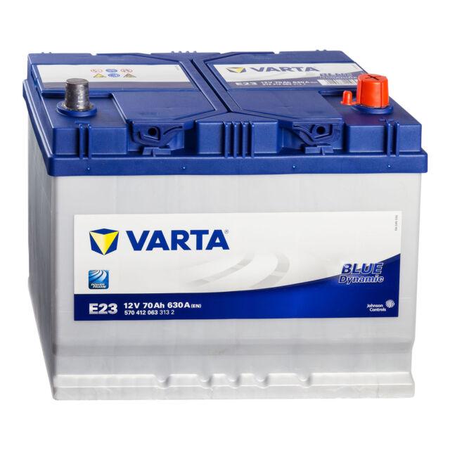 VARTA Blue Dynamic E23 Autobatterie 12V 70Ah ASIA Japan Pluspol Rechts