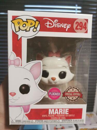 Vinyl Figure Disney Flocked Marie Funko Pop