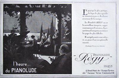 Other Breweriana Breweriana, Beer PublicitÉ De Presse 1924 L'heure Du Pianolude RÉgy Excellent In Cushion Effect