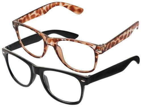 Lente claro negro Wayfarer gafas de sol estilo Unisex colores UV400 Protección