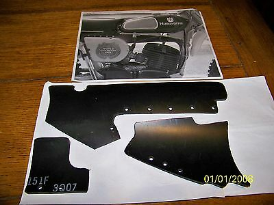 Husqvarna Husky GP  Airbox and Fender Skirt Rubber Straps  Made in USA !