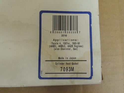 McCord Head Gasket 7093M For 1985-88 Toyota//GM//Geo//Chevrolet 1.6L 4 cyl