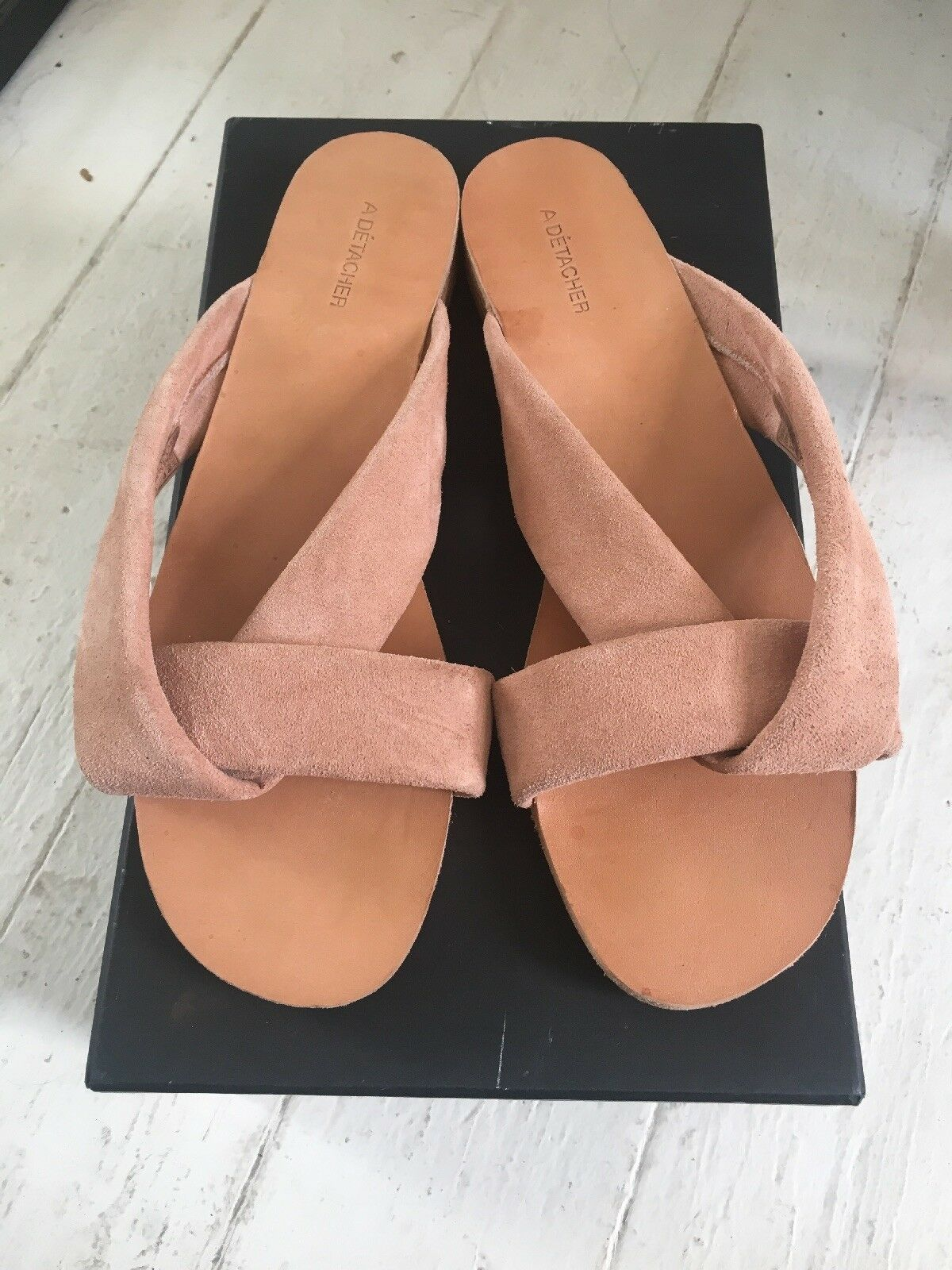 A Detacher Pipit Sandals Dimensione 9 Blush Blush Blush suede slides rachel comey ulla johnson ff6da1