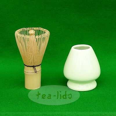 Matcha Whisk and Holder, White Bamboo.....Green Tea Stand Ceremonial Ceremony