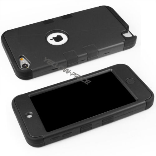 Apple Licenced Flat Metal Lightning Cable+Hybrid Armor Case Film iPod Touch 5//6