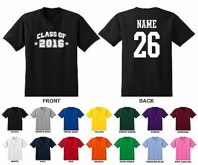 19 17 Name Number Adult Men/'s T-shirt Class of 2016 20 Choose Year Arch 18