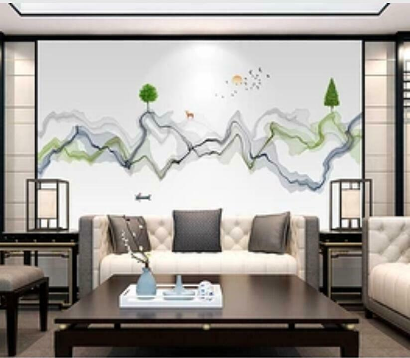 Wandbild Tapete H1561 Malen Abstract 3d Selbstklebend
