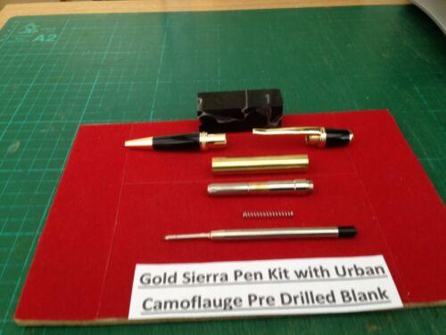 Penna Sierra GOLD Kit Con Forato Urban Camouflage VUOTI /& SET DI CESPUGLI