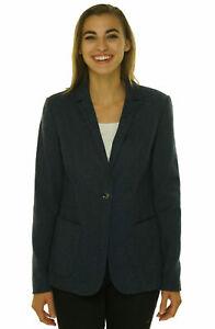 Tahari-Women-039-s-Wenoy-Print-One-Button-Closure-Blazer-Jacket-Navy-Blue-Black