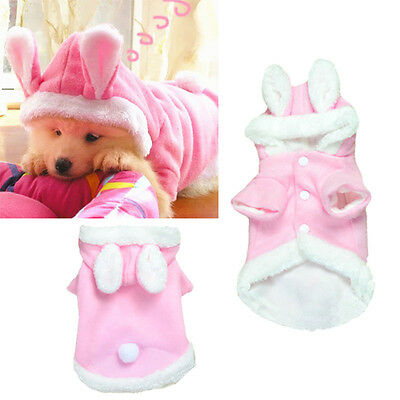 Fashion Cute Rabbit Cotton Clothing Puppy Kitten Pet Transform Clothes Pop Pink