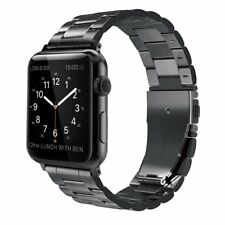 for Apple Watch Replacement Band 42mm Stainless Steel iWatch Series 1 2 Black
