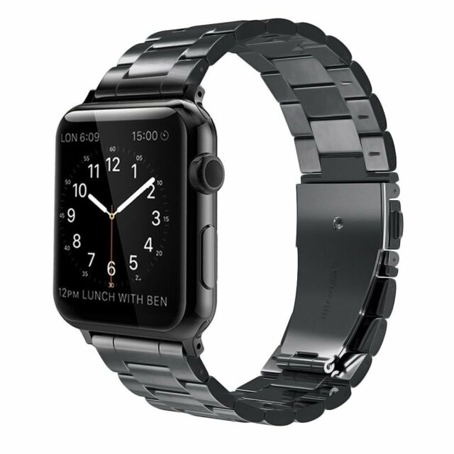 5943949798975 for Apple Watch Replacement Band 42mm Stainless Steel iWatch Series 1 2  Black