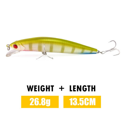 5.31/'/' Minnow Fishing Lure Quality Hard Bait With Fishing Hook Tackle Crankbait