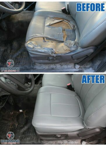 Driver Side Bottom VINYL Seat Cover Gray 2011 2012 2013 GMC 1500HD 2500HD WT SL