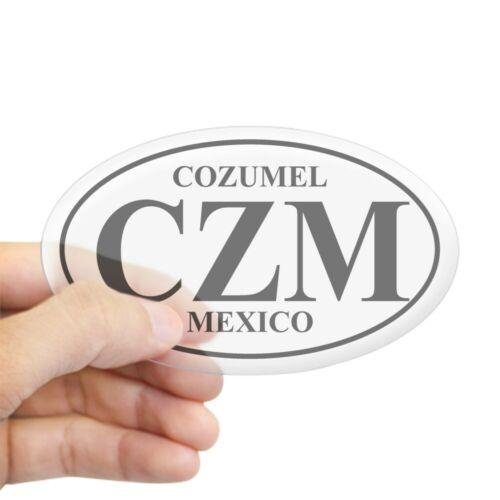 Oval CafePress CZM Cozumel Oval Sticker Sticker 174638360