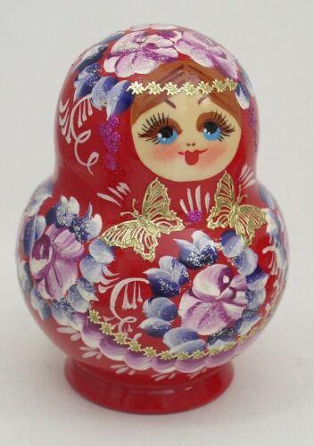 Matryoshka #3608 RED 10 pcs Russian Nesting Doll