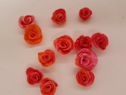 Bulk Lot Of 12 Tiny Roses, Resin Roses, Nail Enhancements, silicone mould