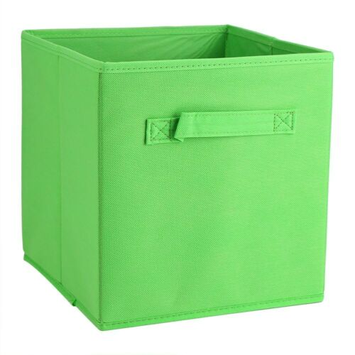 New Clothes Toys Shoes Storage Basket Plaid Foldable Canvas Bin Basket Box 6pcs