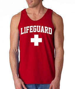7ee04fc3f57c6 New LIFEGUARD Tank Top swimming pool beach staff guard Sleeveless ...