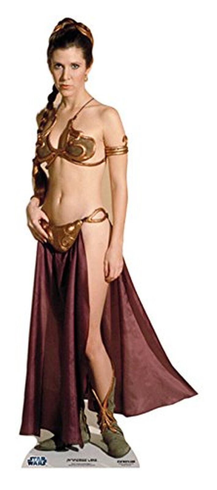 STAR CUTOUTS SC469 Official Star Wars Princess Leia (Carrie Fisher) LifeGröße ...