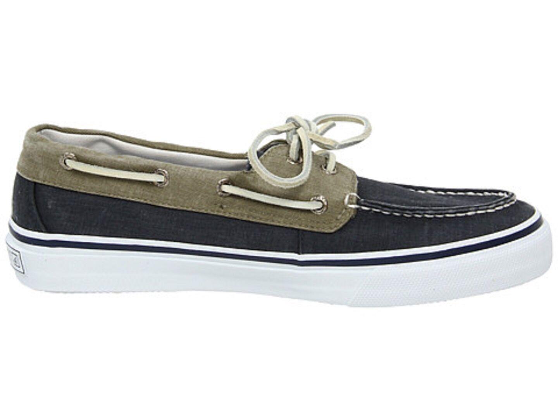 SPERRY TOP SIDER 0561333 BAHAMA Navy/Khaki 2 EYE Mn's (M) Navy/Khaki BAHAMA Canvas Lifestyle Schuhes a76b42