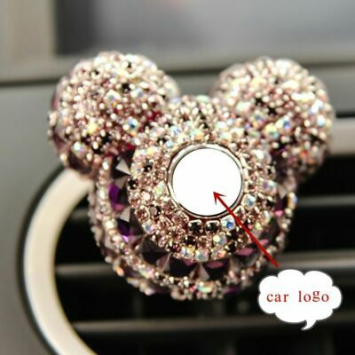 Luxury Look Car Perfume Mickey Shape Full Diamonds Air Freshener Lady Perfumes