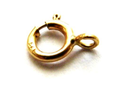 5mm 9 Carati Oro Giallo Bullone ANELLO FIBBIA-closed-necklace-findings-not scrap-bracelet