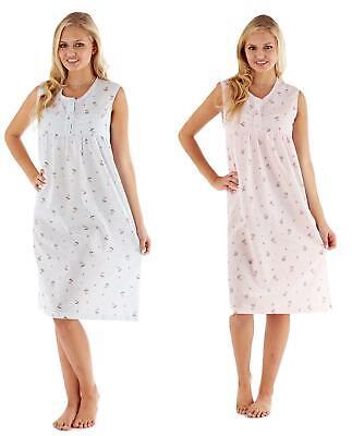UnermüDlich Ladies Women Suzie Ditsy Poly Cotton Sleeveless Nightdress