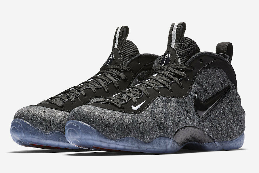 Nike Foamposite Pro Tech Fleece Wool Dk Grey Heather Black 624041-007 Comfortable and good-looking