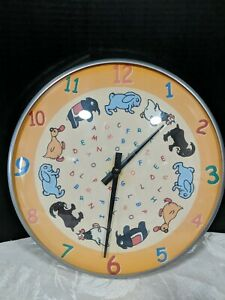 Details About Vintage Animal Whimsical Wall Clock Nursery Decor 12 3 4