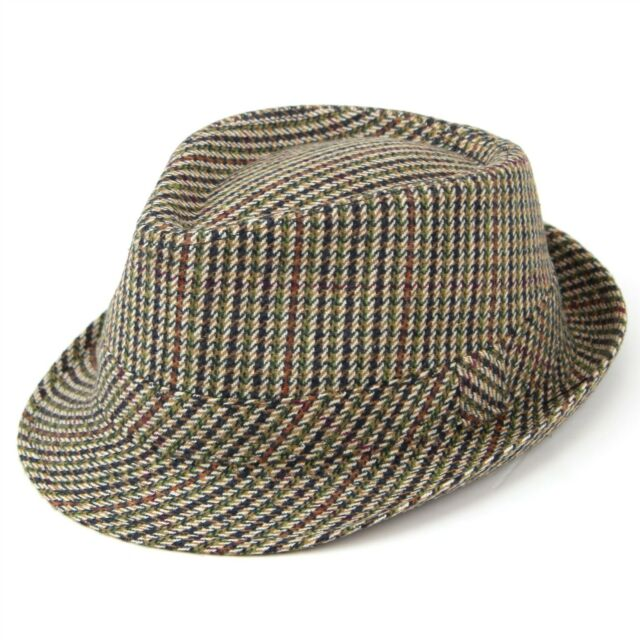 Tweed Trilby Hat Fedora Hawkins Brown 5 Sizes Country Classic 59cm ... 22c377921704