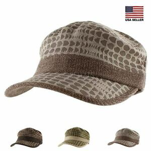Dot Pattern Military Army Soft Knit Baseball Cap Casual Hat Women