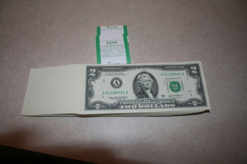 2003A DISTRICT 1 { A } $2 FRN NOTES CU NEW BILLS IN SEQUENCE /& VERY HARD TO FIND