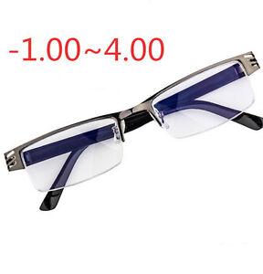 4fd18d75abc Image is loading Half-Frame-Metal-Myopia-Eyeglass-Distance-Nearsighted- Glasses-