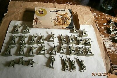 1-32airfix Target Box 1973 British Commandos Superset 38 Soldiers Fanteria C Nv