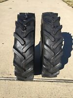 Two 5.00-15 Bkt Hay Rake Compact Tractor Tire Lug 500 15 R1 Heavy Duty