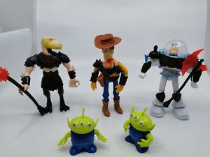 Toy-Story-Action-Figure-Woody-Buzz-Lightyear-Reptillus-Alien-set-5-16cm