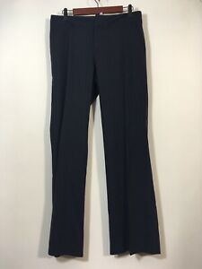 Banana Republic Pants Women Size 6 Striped Wool Blend Career Trouser Slacks