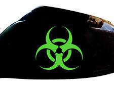 Biohazard Car Sticker Wing Mirror Styling Decals (Set of 2), Neon Green