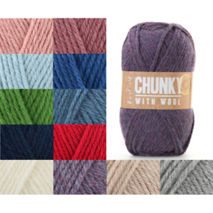 Sirdar-Hayfield-Chunky-With-Wool-100g-Ball-Knitting-Crochet-Knit-Craft-Yarn