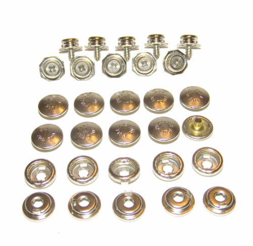 """Locking Snap 10 Piece Pull The Dot Snaps w// 3//8/"""" Screw In Stud One Way Snap"""