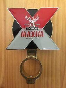 Vintage-034-Tooheys-MAXIM-034-Metal-Beer-Pump-Badge-Decal