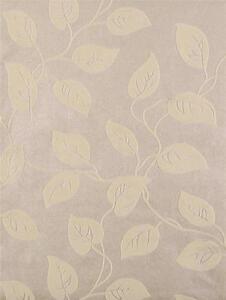 Wallpaper cream beige real flocked velvet leaf vine leaves on pearl beige cream ebay - Cream flock wallpaper ...