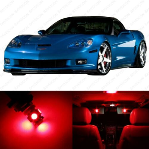 11 x Red LED Interior Light Package For 2005-2013 Chevy Corvette C6 PRY TOOL