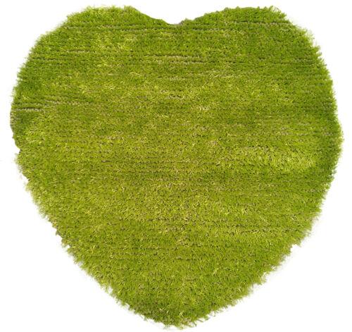 COOL KIDS SHAGGY GREEN HEART SHAPE MAT BRAND NEW
