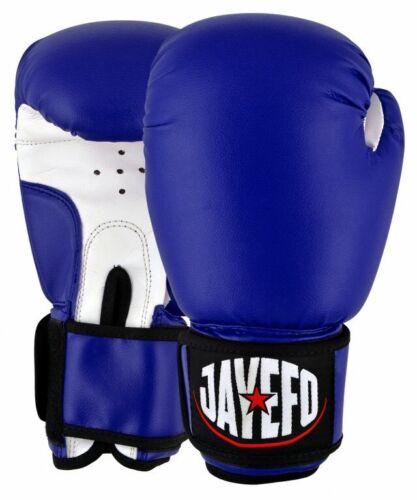JAYEFO LEATHER BOXING GLOVES MMA MUAY THAI GLOVES KICK SPARRING TRAINING BAG 16
