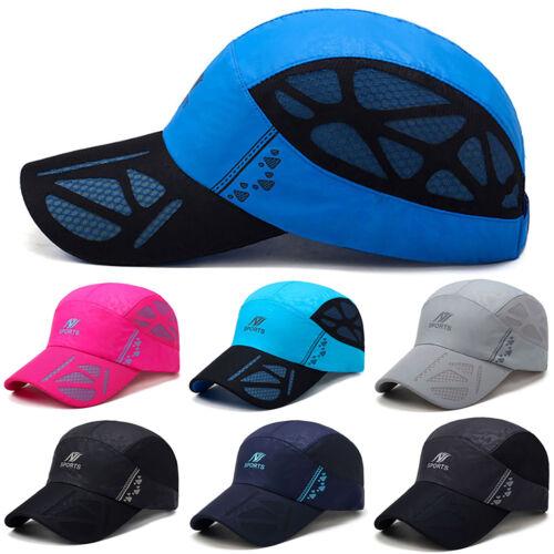 Men Women Outdoor Sports Mesh Baseball Cap Running Breathable Visor Snapback Hat