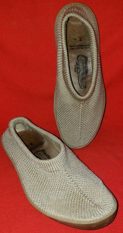 Arcopedico Women's Knit Slip-On Comfort Shoes Size 7.5M 38EU Color Tan