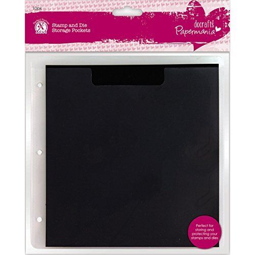 Pack of 10 Papermania Plastic Stamp and Die Storage Pocket with Magnetic Shim